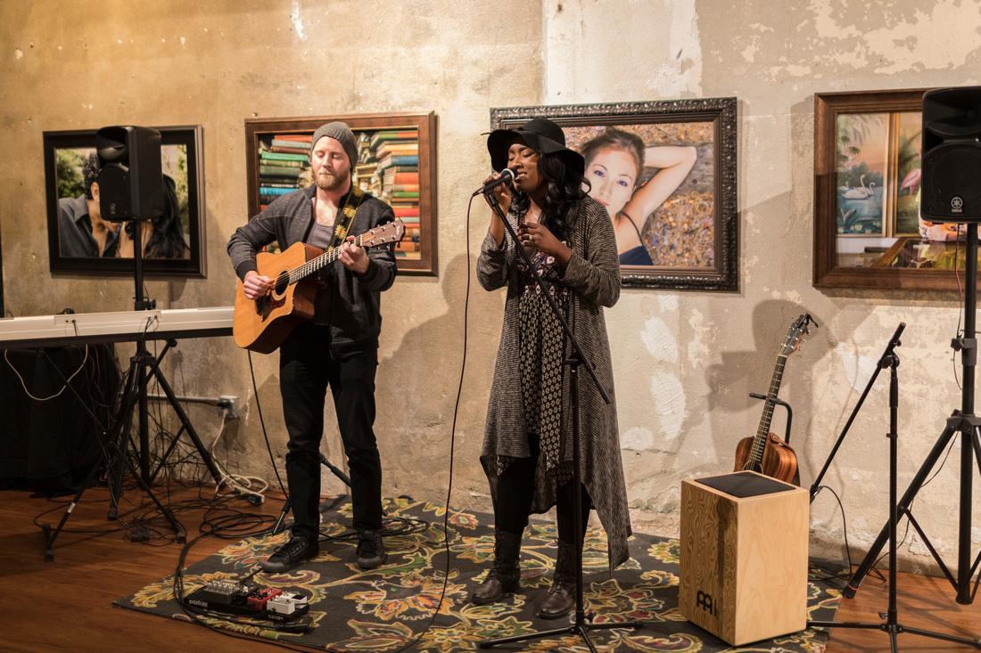 Malynda Hale at Last Friday Songwriter Night