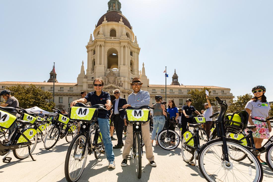 Metro Bike Share Launch Pasadena City Hall